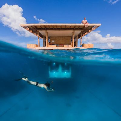 Floating Hotel Manta Resort in Africa sea