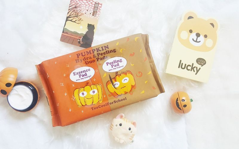 New K-Beauty - Pumpkin Hydra & Peeling Duo Pad - Too Cool For School