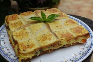 Croque tablette saumon et basilic