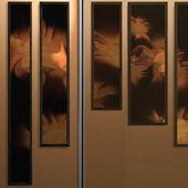 Exposition Un Polyptyque De Guillaume Bottazzi Illumine L'entrée Cathédrale De La Résidence Étudiante Georges Méliès À Montreuil