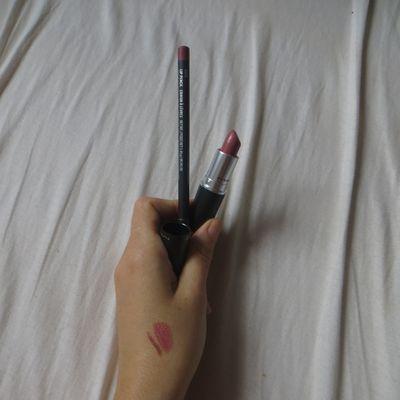 Mac : R à L Brave + crayon à lèvres Soar.