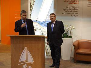 Allocutions de MM Yves Lyon-Caen, président de la FIN et d'Alain Vidalies, Secrétaire d'Etat chargé de la Mer