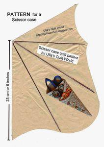 Etuis à ciseaux en tissu
