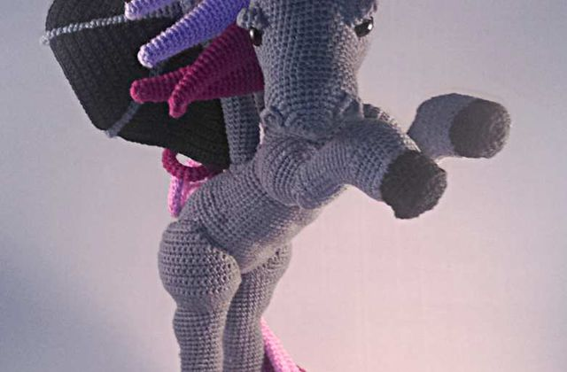 Amigurumi : The dark unicorn