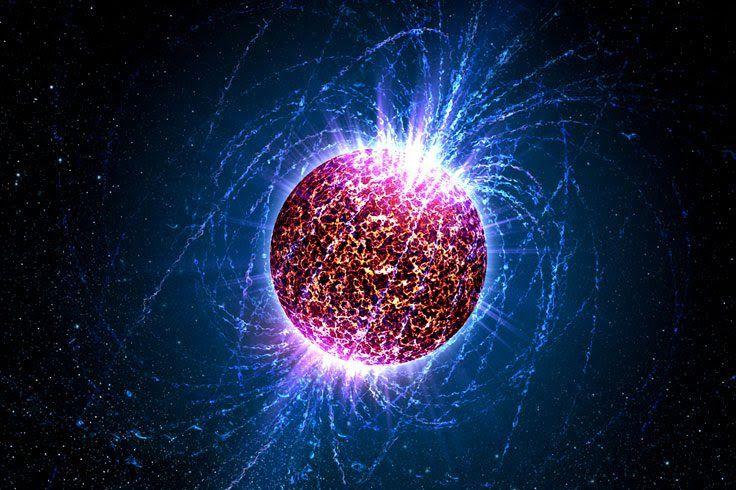 Vue d'artiste d'une étoile à neutrons.