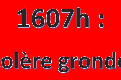 1607 heures, préavis de grève intersyndical! C'est maintenant!