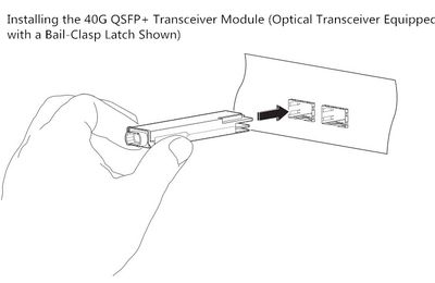 Instructions for 40G QSFP+ Transceiver Installation and Removing