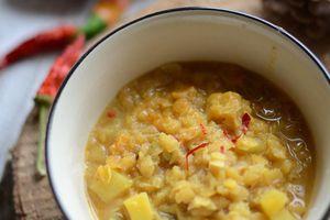 Soupe de lentilles corail curry cumin