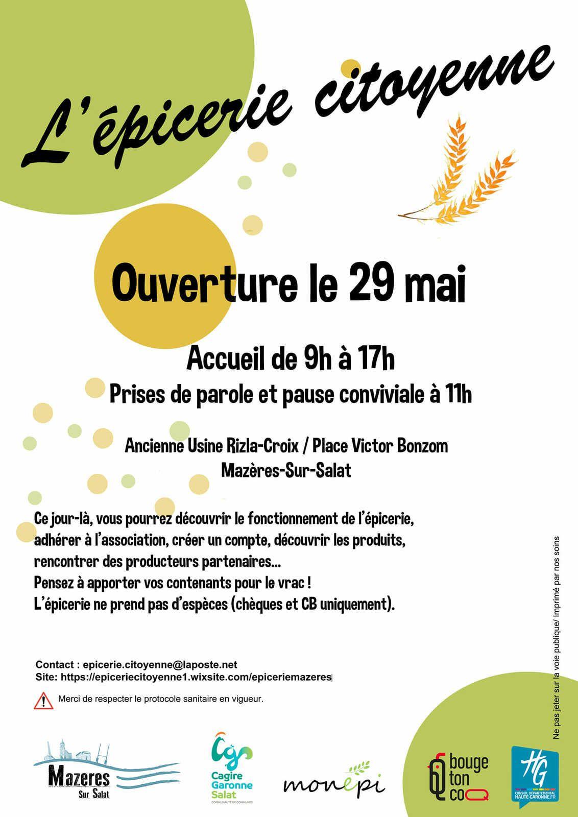 Mazères-sur-Salat. Samedi, ouverture de l'Epicerie Citoyenne