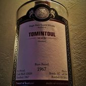 Tomintoul 45Y: 1967/2012 MoS - Passion du Whisky