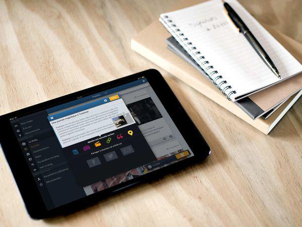OverBlog fait sa rentrée sur iPad