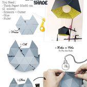 Réaliser une lampe en origami facilement pas à pas