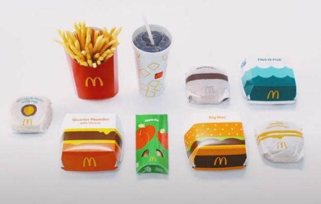 Packaging : Nouveaux emballages chez McDonald's avec un design plus épuré