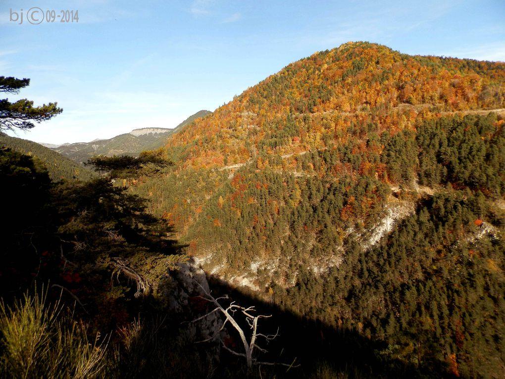 Automne en ALPES de HAUTE PROVENCE ( vallée du Bez ) - CLUE de VERDACHE