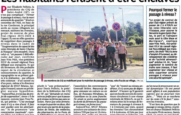 St André - Les habitants refusent d'être enclavés