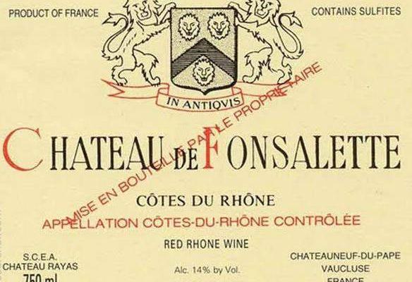 Château de Fonsalette rouge, Château Rayas, Emmanuel Reynaud, 1995