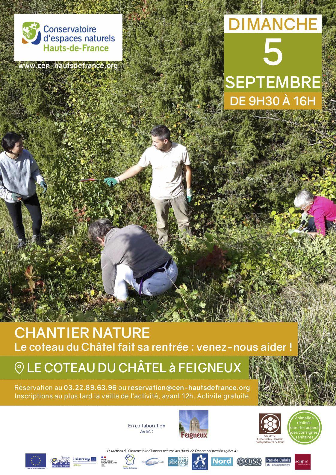 Communauté de communes du pays de Valois : une sortie nature à Saint-Vaast-de-Longmont et un chantier nature à Feigneux