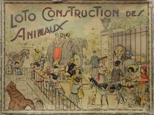 "loto ""construction des animaux"" par Saussine"