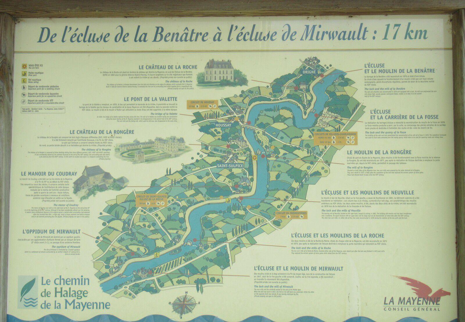 Au fil de la Mayenne - Etape 6 - Origné / Daon - 65,3 km - A.R