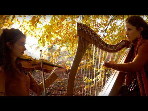 """Celtic music - """"Brocéliande"""" and """"La Complainte de la Blanche Biche"""" - Harp and violin"""