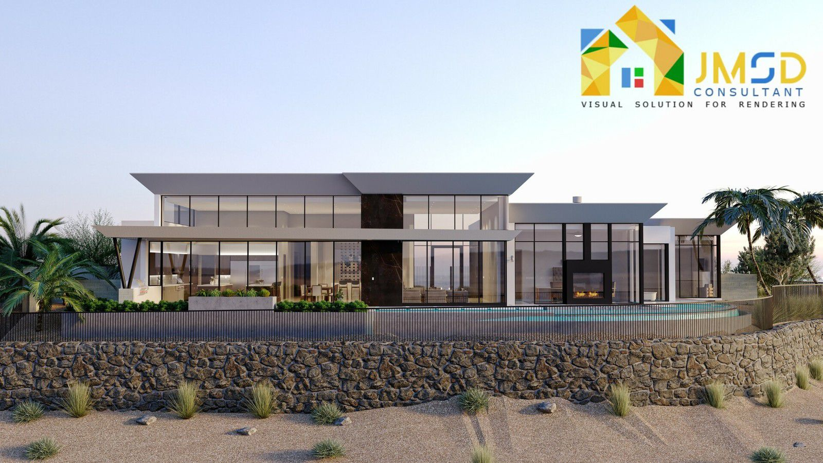Residential Home 3D Exterior Rendering Services Oakland California