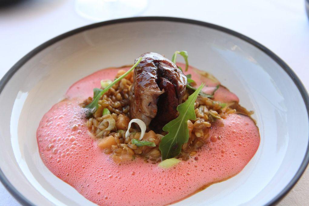 Après la tomate, le melon a été le fil conducteur d'un menu estival associant fraîcheur et originalité. Photos JB