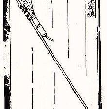 Images extraites du Huolongjing avec des armes présentes dans le tableau