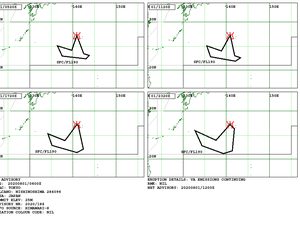 Nishinoshima - 08/01/2020 - strong SO2 signal near Nishinoshima with 40.04DU of SO2 at an altitude of 5.76km. / Tropomi et volcani ash advisory by the VAAC Tokyo - one click to enlarge