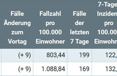 In Veitshöchheim positive Corona-Tests in Mittelschule, Gymnasium  und BFW -    7-Tage-Inzidenz geht im Landkreis Würzburg von 163,3 gestern auf 122,61 heute zurück