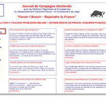 Campagne électorale RWF – A Liège, c'est parti !