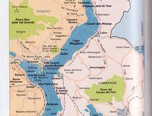 Carte du Lac Majeur en Italie