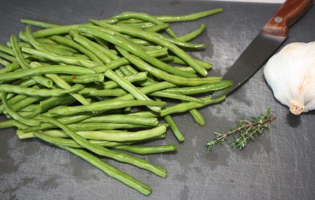 Les petits pots de Soan: Purée de haricots verts à l'ail et au thym