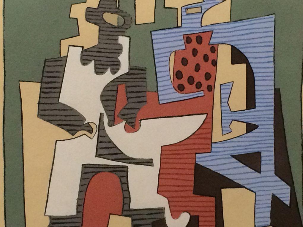 Picasso : Les Arlequins, costume et décors pour Le Tricorne , Guitare et compotier, Nature morte à la cruche, Nature morte à la tête antique