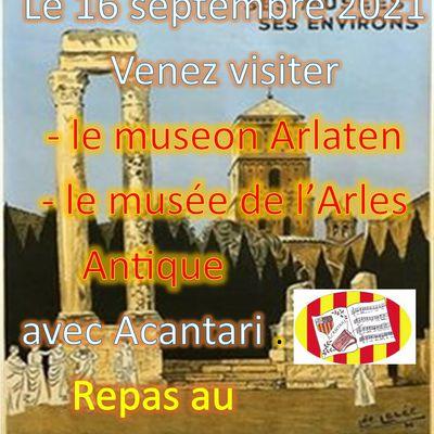 Visite à Arles le 16 septembre 2021