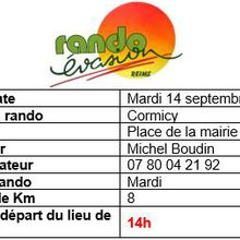 Rando de septembre :programme du 13 au 19