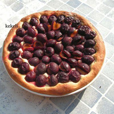 Tarte aux prunes pâte briochée - bataille food n°92
