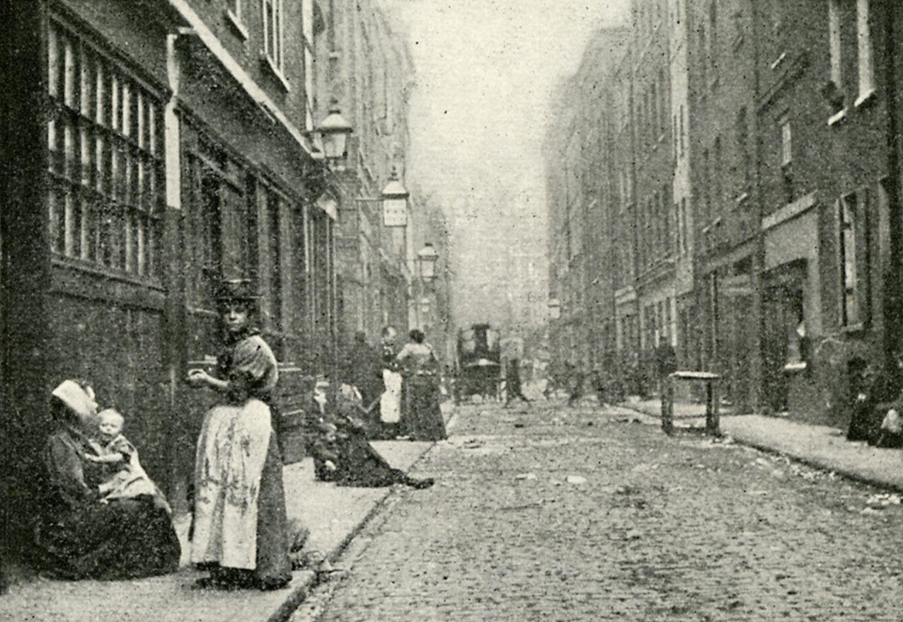 Dorset Street de Londres dans le fameux quartier Whitechapel, photographié en 1902 pour Le Peuple de l'abîme de Jack London