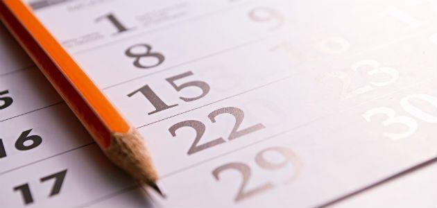 Calendrier des contrats et des paies 2021