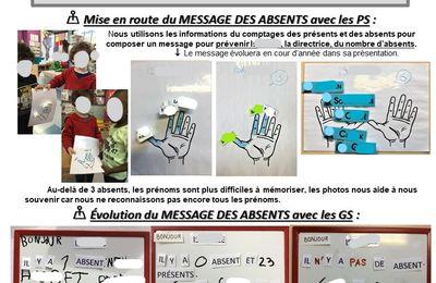 Message des absents P.2 PS et GS