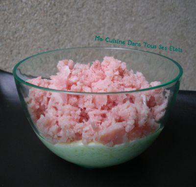 Verrine Jambon-Kiri-concombre