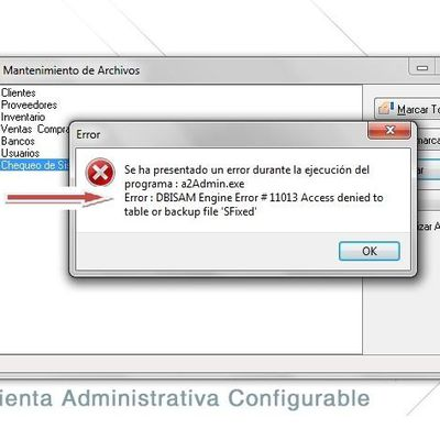 DBISAM Engine Error #11013 Access Denied to table or backup file """"