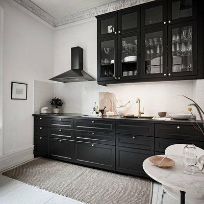 Black kitchen & Scandinavian style