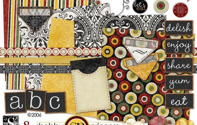 """Kit de scrapbooking by-Shabby-princess """"Dinner Party"""""""