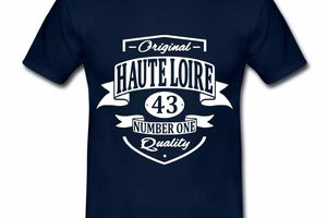 T Shirt Auvergne Original Haute Loire 43 Number One HBM