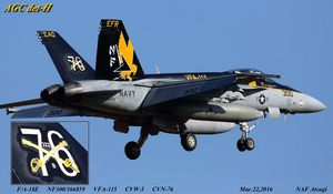 "Boeing F/A-18E ""Rhino"" - VFA-115 ""Screamin Eagles"" - Special marking 76"