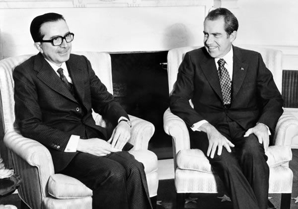 Giulio Andreotti  et Richard Nixon à Washington en 1973