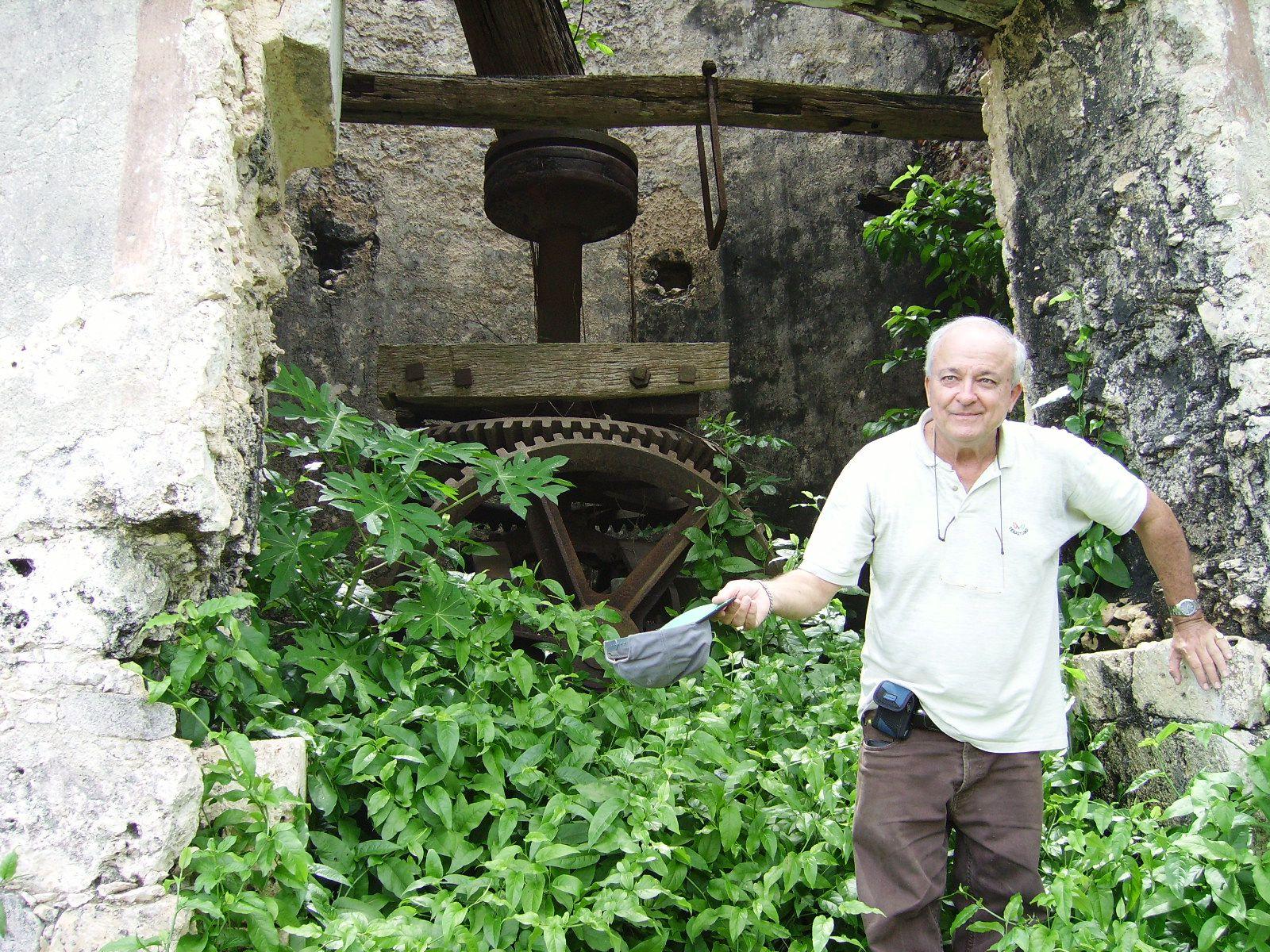 Le sauvage d'Huxley dans son moulin refuge à Marie-Galante