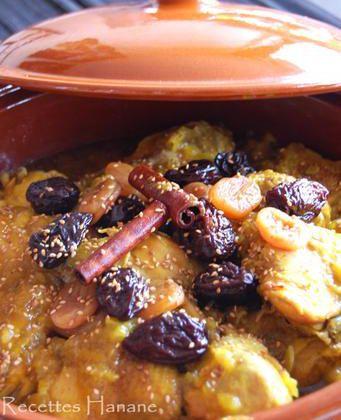 Tajine au poulet et fruits secs, à la marocaine