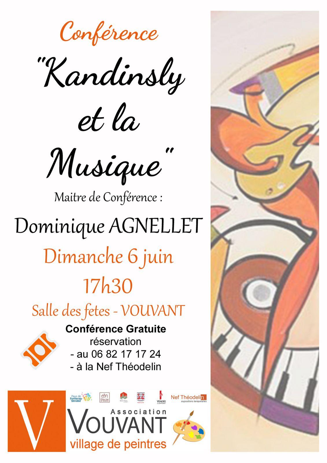 """""""Kandinsky et la musique."""" Conférence 17h30 par Mr Dominique AGNELLET"""