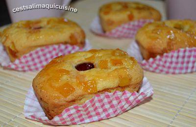 Minis cakes aux cerises et écorces d'oranges confites